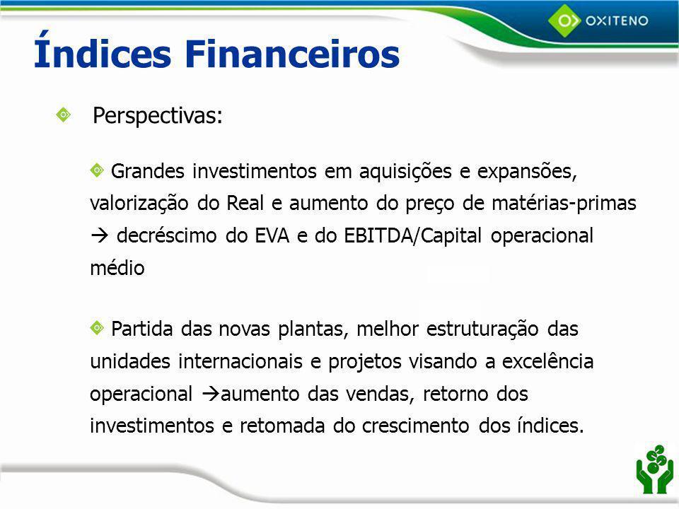 Índices Financeiros Perspectivas: