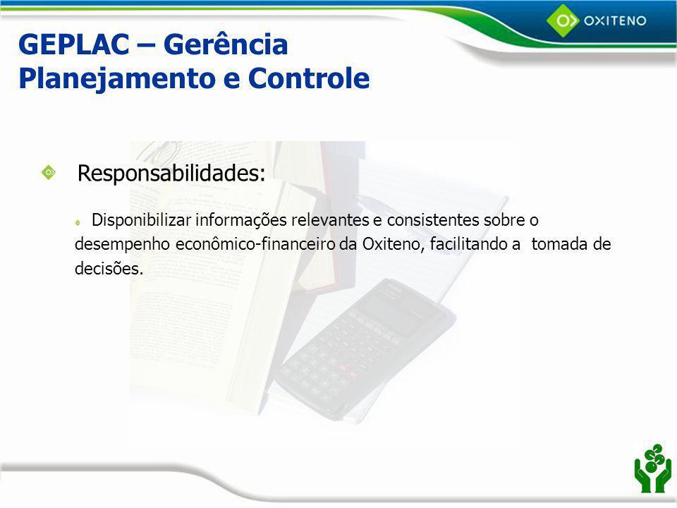 GEPLAC – Gerência Planejamento e Controle