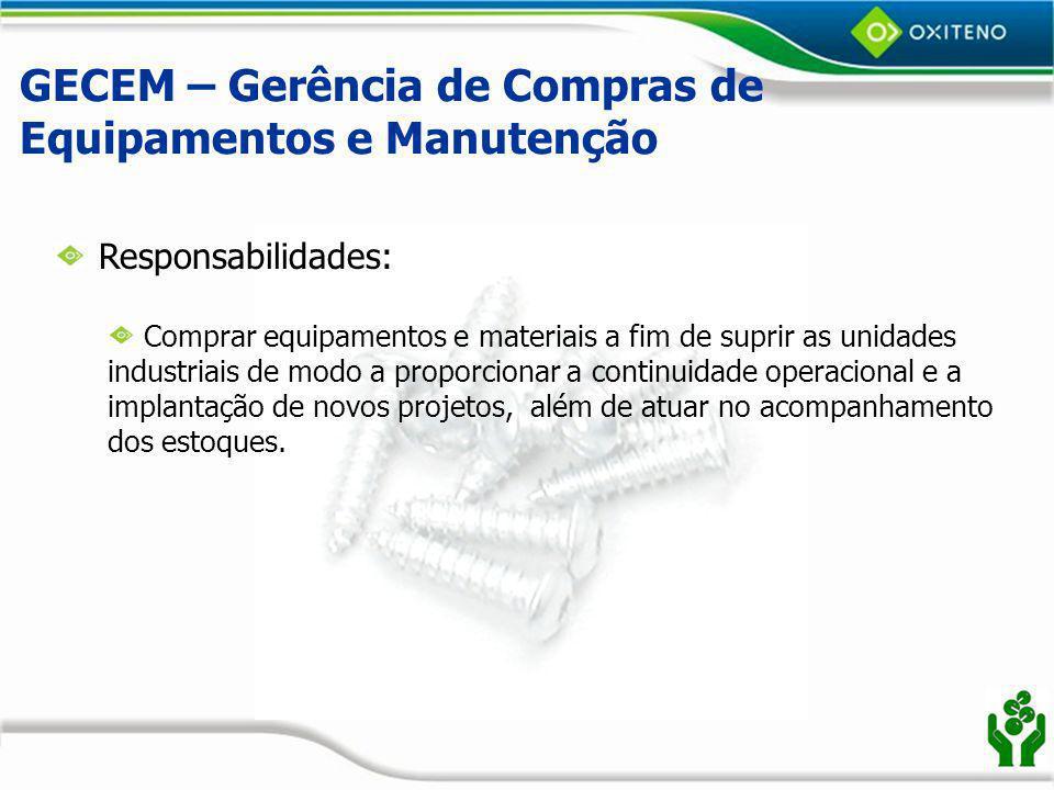 GECEM – Gerência de Compras de Equipamentos e Manutenção