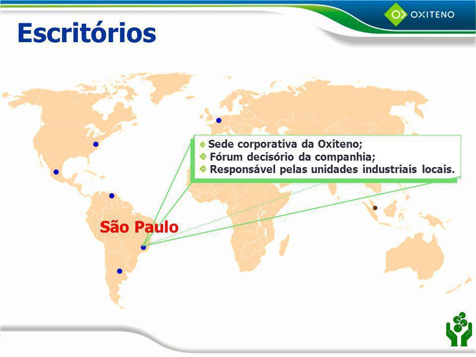 Escritórios São Paulo Sede corporativa da Oxiteno;