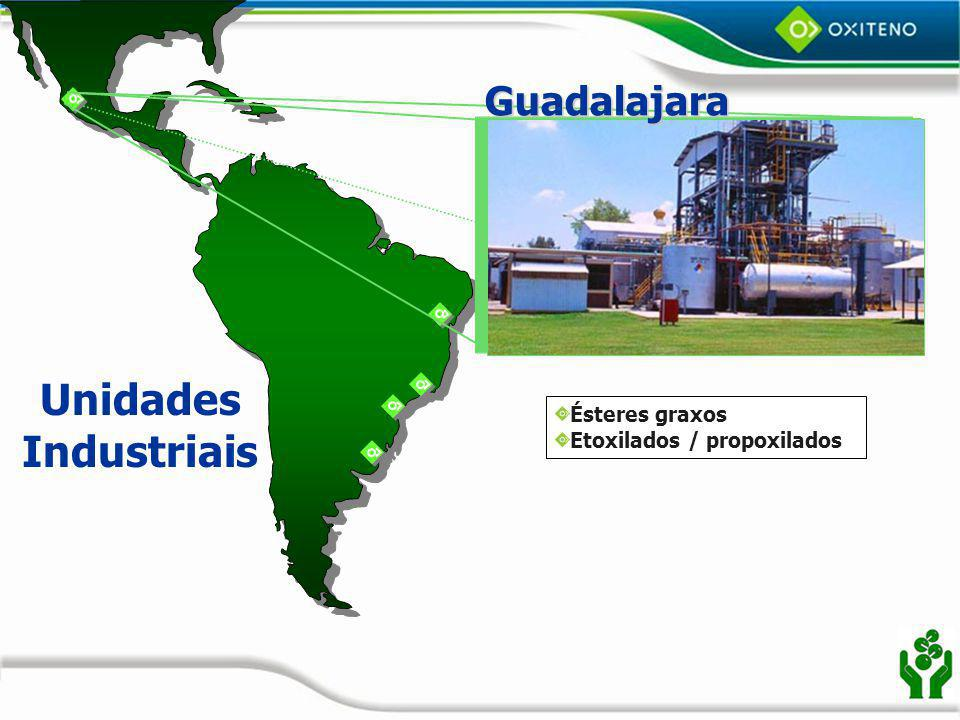 Unidades Industriais Guadalajara Ésteres graxos