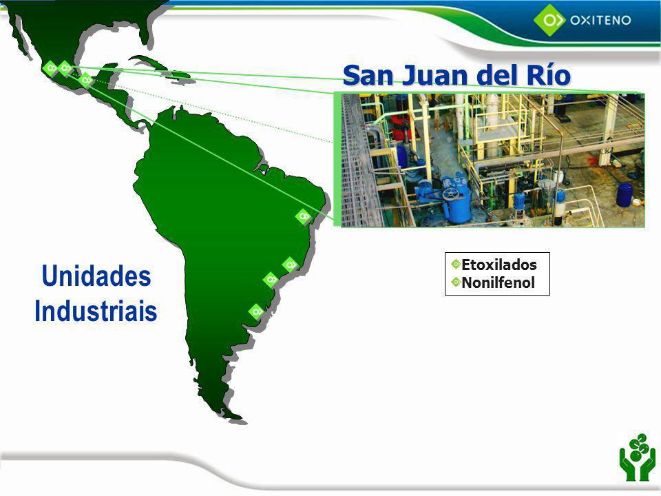 San Juan del Río Etoxilados Nonilfenol Unidades Industriais