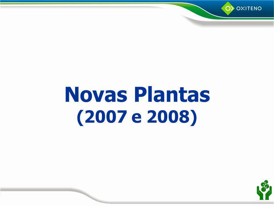 Novas Plantas (2007 e 2008)