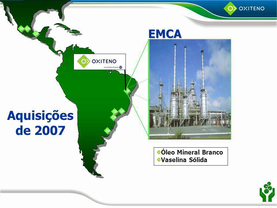 EMCA Aquisições de 2007 Óleo Mineral Branco Vaselina Sólida