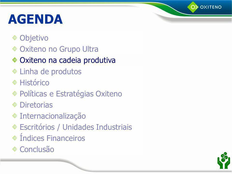 AGENDA Objetivo Oxiteno no Grupo Ultra Oxiteno na cadeia produtiva