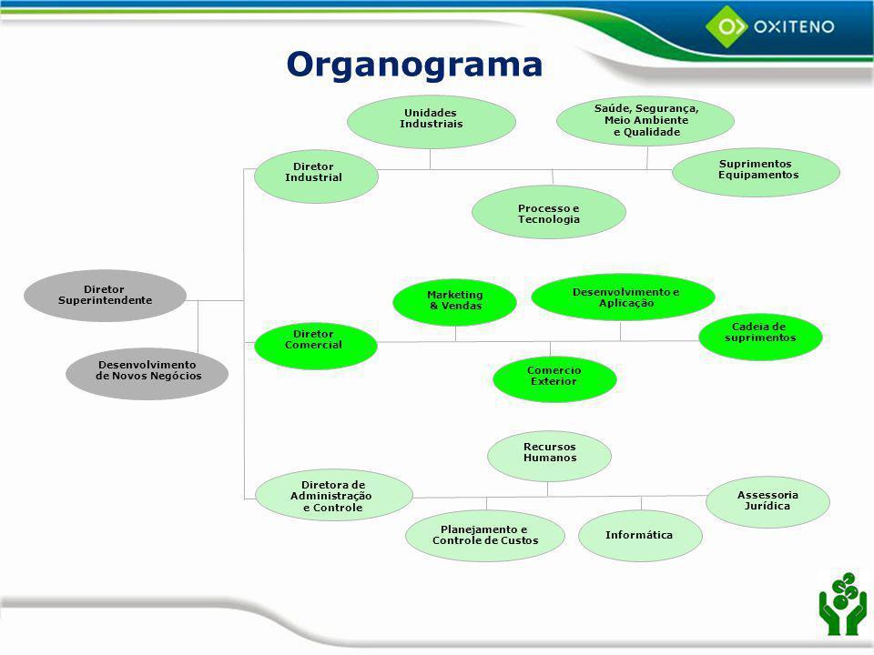 Organograma Saúde, Segurança, Meio Ambiente e Qualidade Unidades