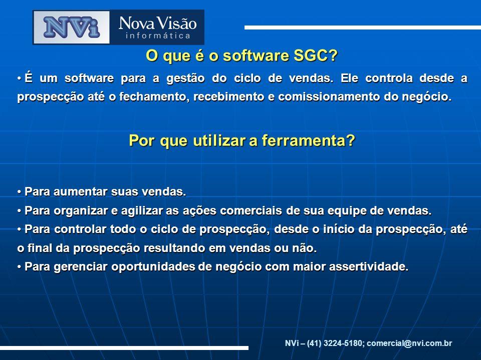 O que é o software SGC Por que utilizar a ferramenta