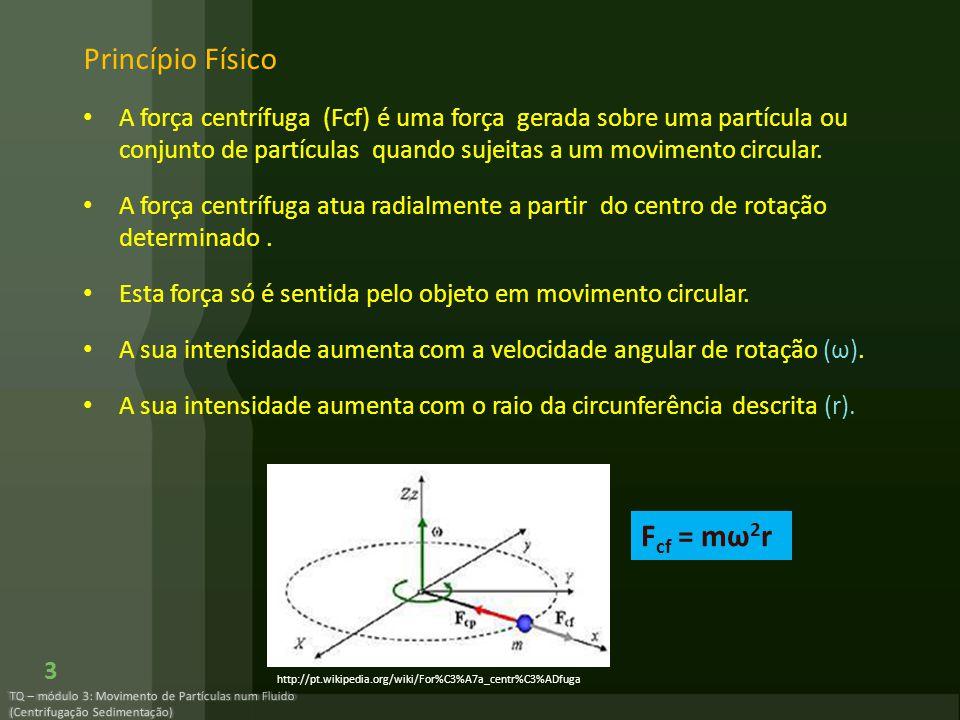 Princípio Físico Fcf = mω2r