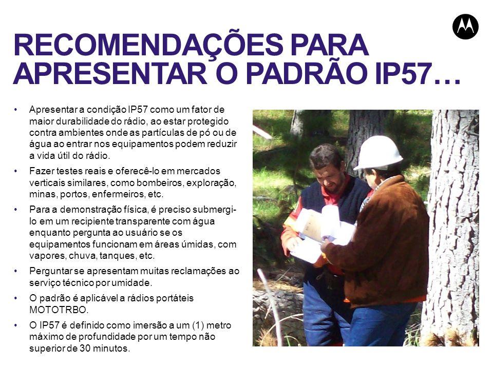 RECOMENDAÇÕES PARA APRESENTAR O PADRÃO IP57…