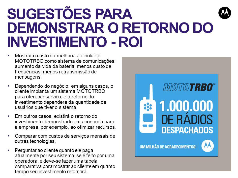 SUGESTÕES PARA DEMONSTRAR O RETORNO DO INVESTIMENTO - ROI