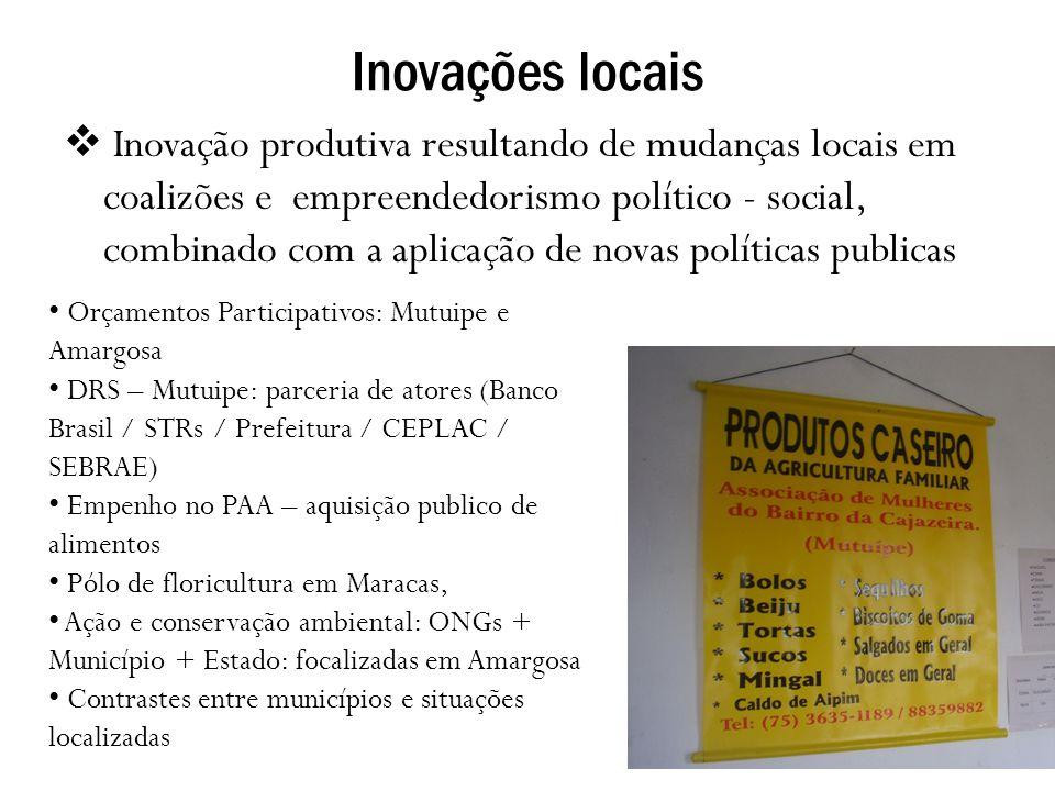Inovações locais