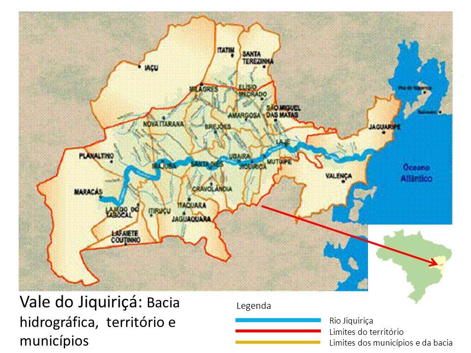 Vale do Jiquiriçá: Bacia hidrográfica, território e municípios