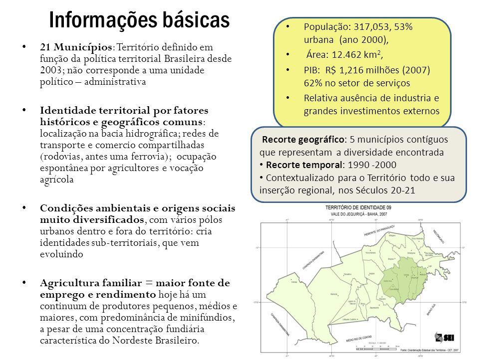 Informações básicas População: 317,053, 53% urbana (ano 2000), Área: 12.462 km2, PIB: R$ 1,216 milhões (2007) 62% no setor de serviços.