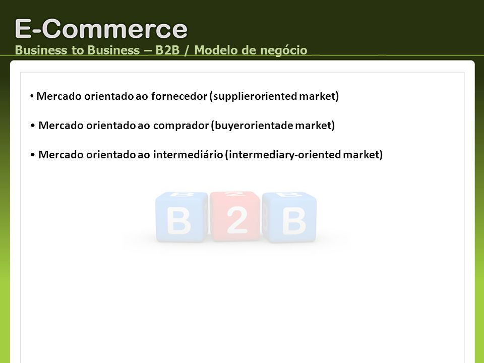 Business to Business – B2B / Modelo de negócio