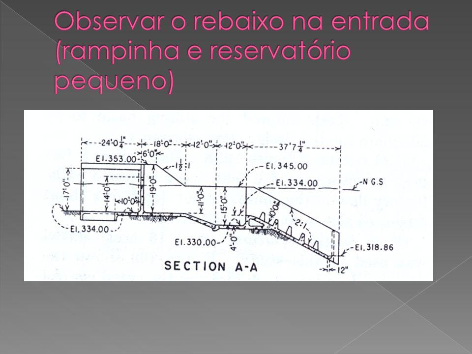 Observar o rebaixo na entrada (rampinha e reservatório pequeno)