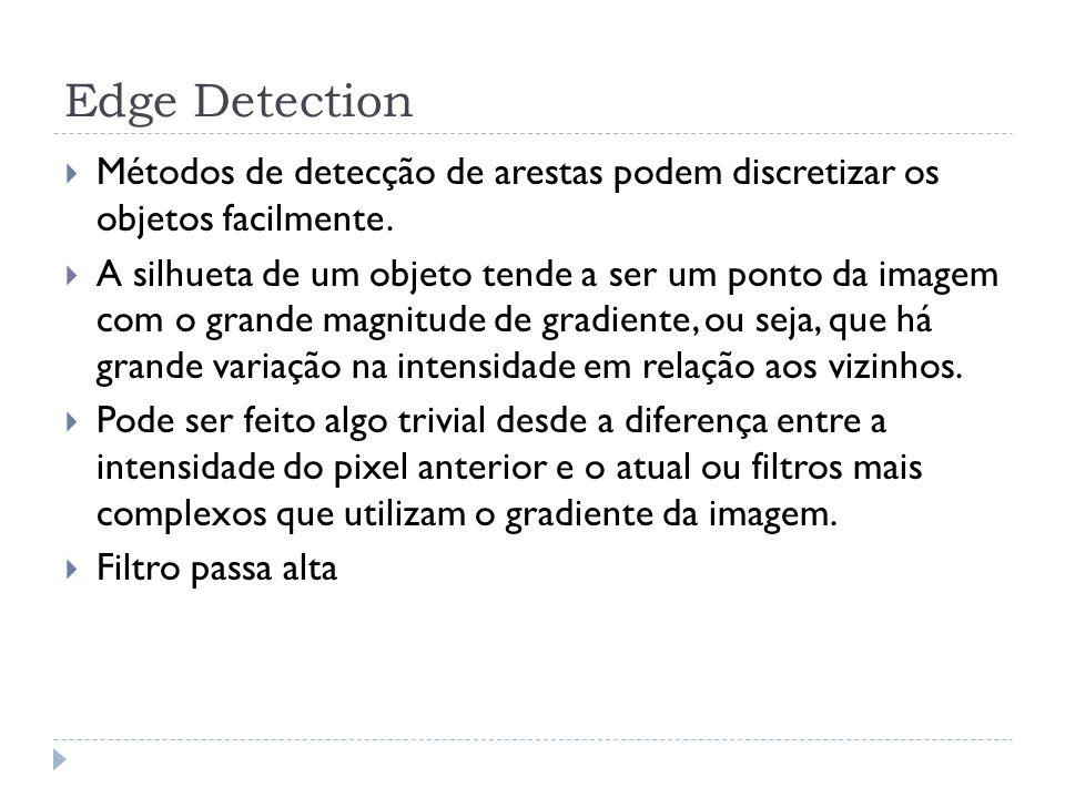 Edge Detection Métodos de detecção de arestas podem discretizar os objetos facilmente.