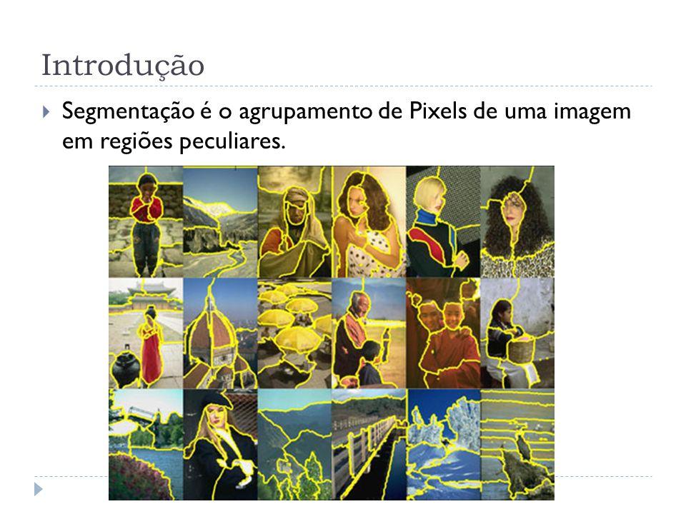 Introdução Segmentação é o agrupamento de Pixels de uma imagem em regiões peculiares.