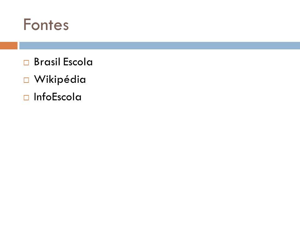 Fontes Brasil Escola Wikipédia InfoEscola