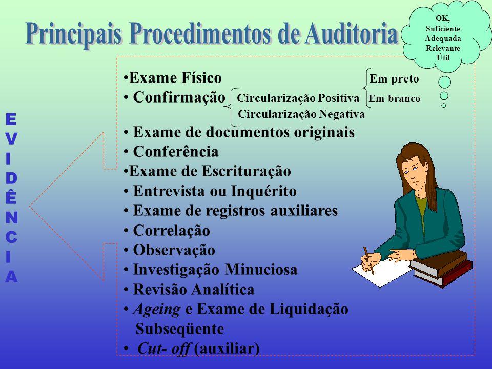 Principais Procedimentos de Auditoria