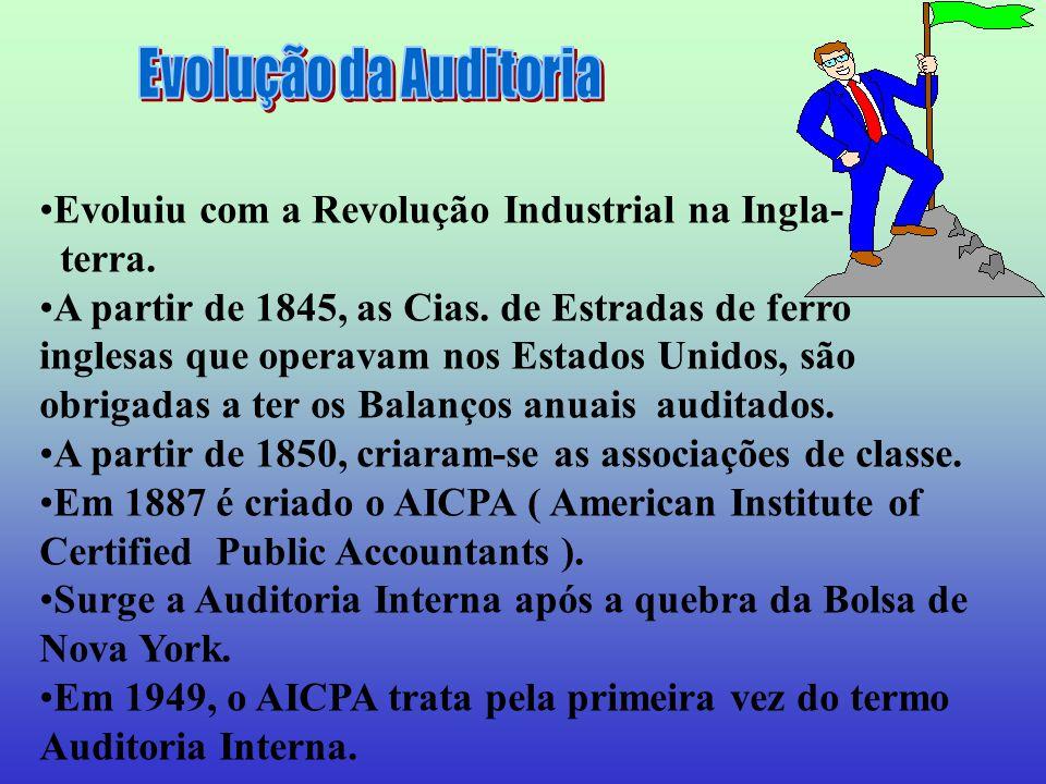 Evolução da Auditoria Evoluiu com a Revolução Industrial na Ingla-