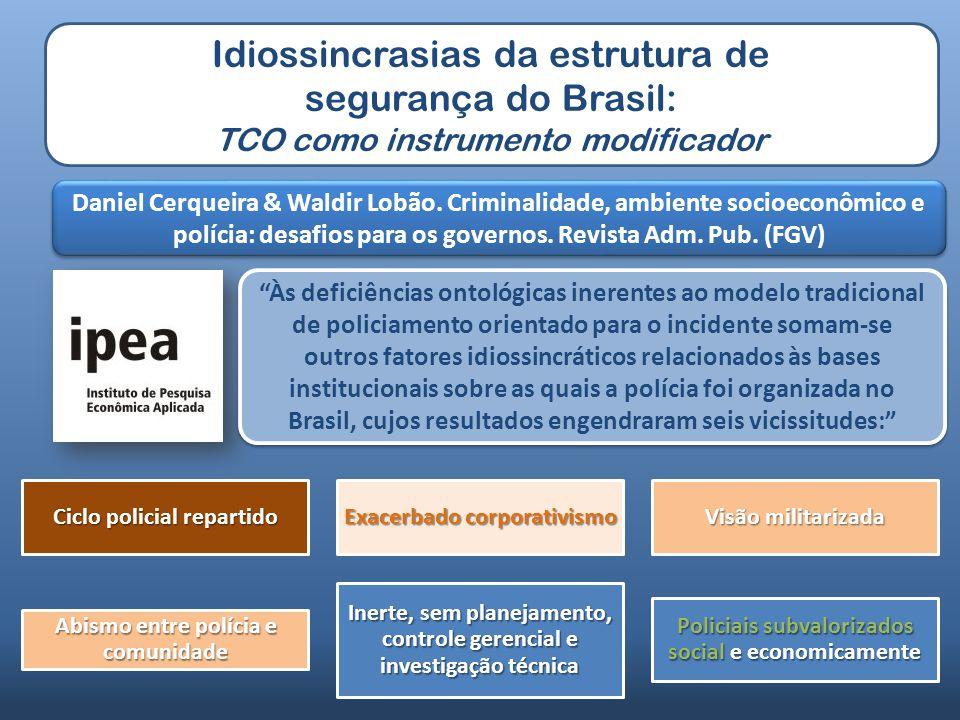 Idiossincrasias da estrutura de segurança do Brasil: TCO como instrumento modificador