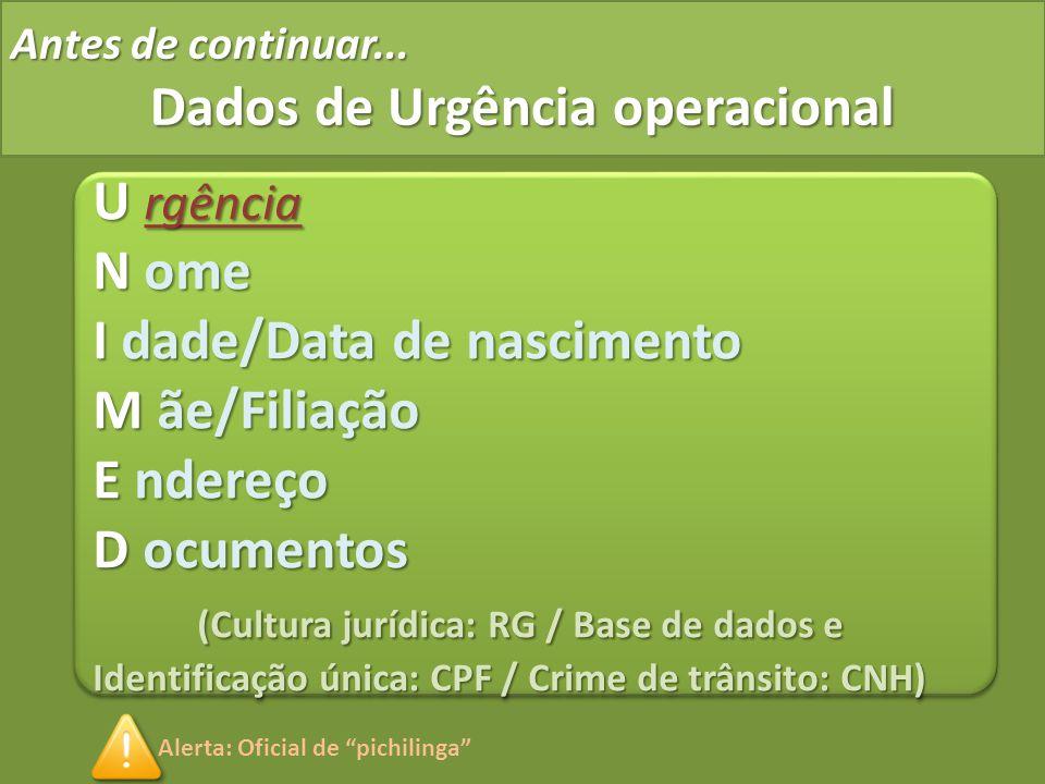 Dados de Urgência operacional