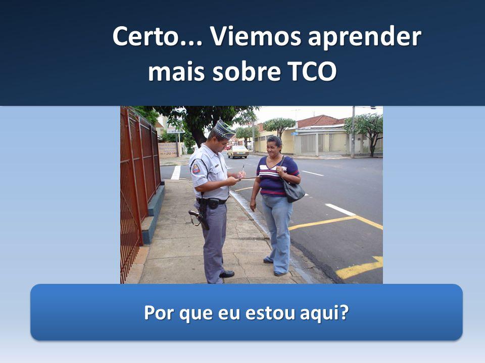 Certo... Viemos aprender mais sobre TCO