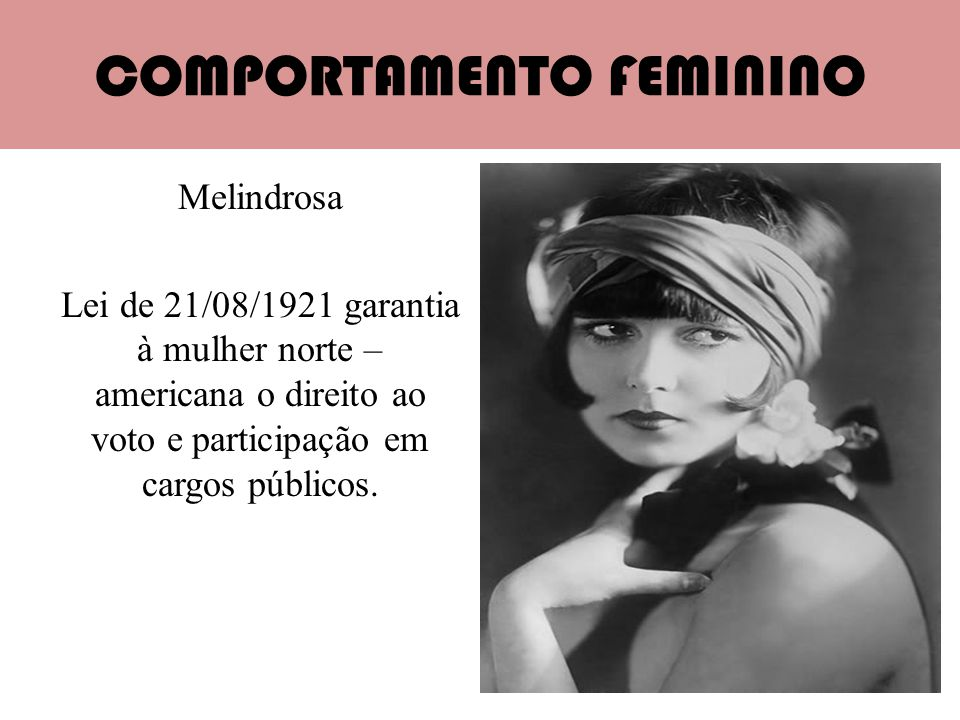 COMPORTAMENTO FEMININO