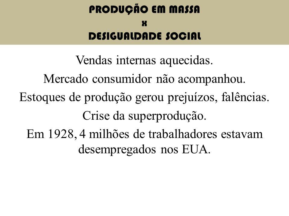 PRODUÇÃO EM MASSA x DESIGUALDADE SOCIAL