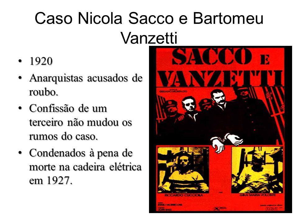 Caso Nicola Sacco e Bartomeu Vanzetti