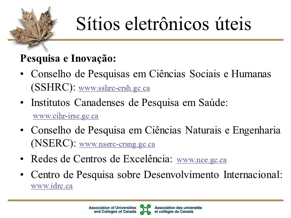 Sítios eletrônicos úteis