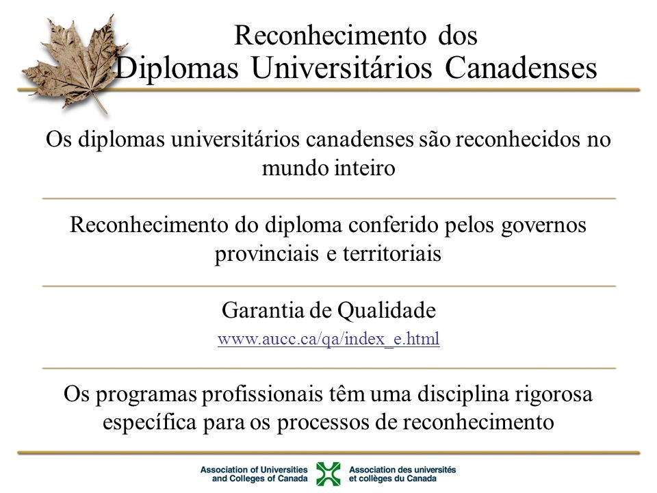 Diplomas Universitários Canadenses