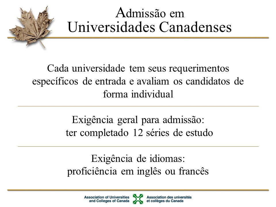 Universidades Canadenses