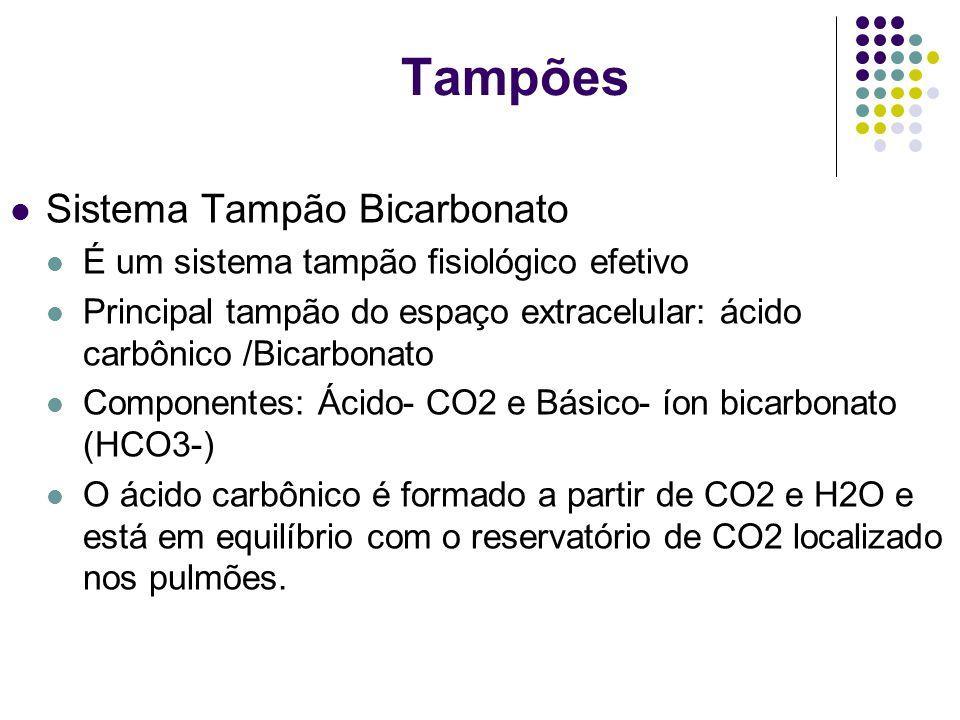 Tampões Sistema Tampão Bicarbonato