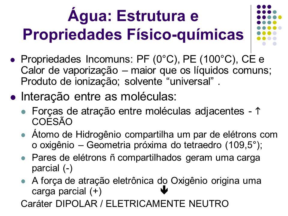 Água: Estrutura e Propriedades Físico-químicas