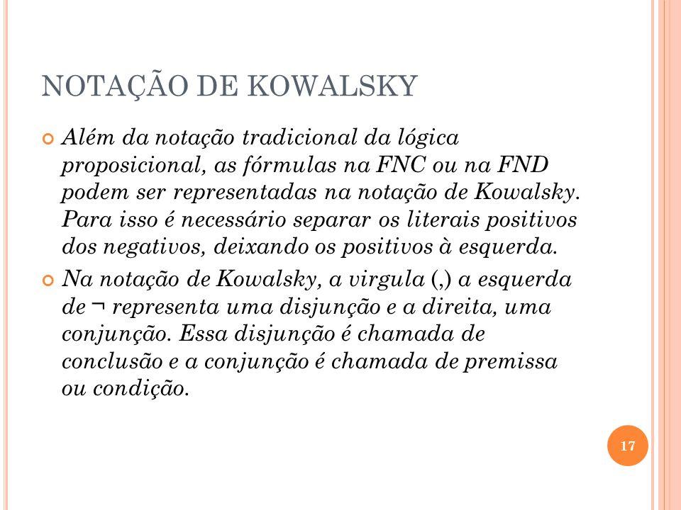 NOTAÇÃO DE KOWALSKY