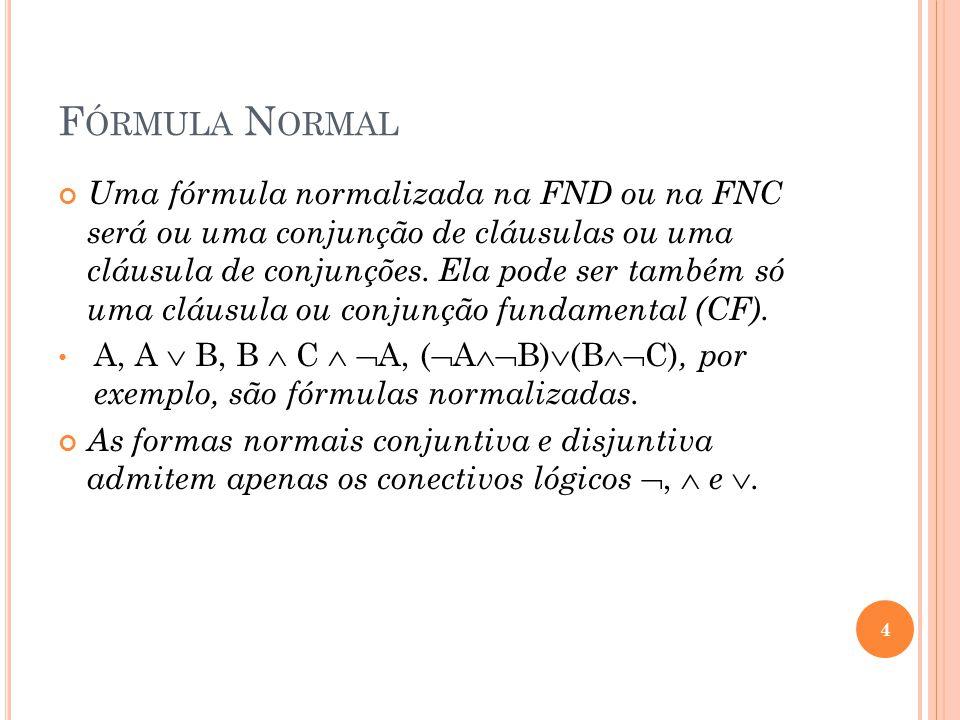 Fórmula Normal