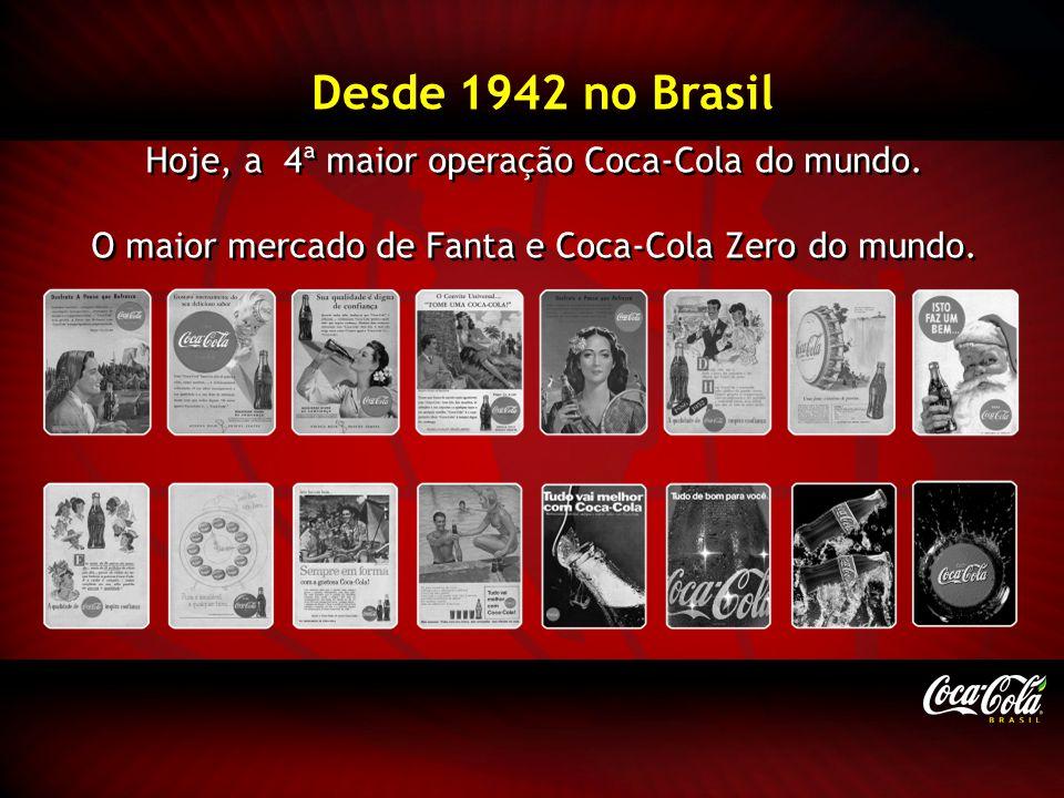 Desde 1942 no Brasil Hoje, a 4ª maior operação Coca-Cola do mundo.