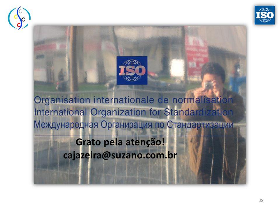 Grato pela atenção! cajazeira@suzano.com.br