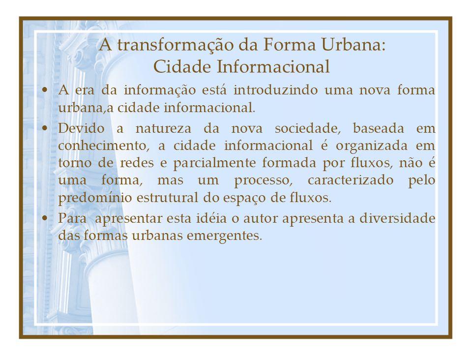 A transformação da Forma Urbana: Cidade Informacional