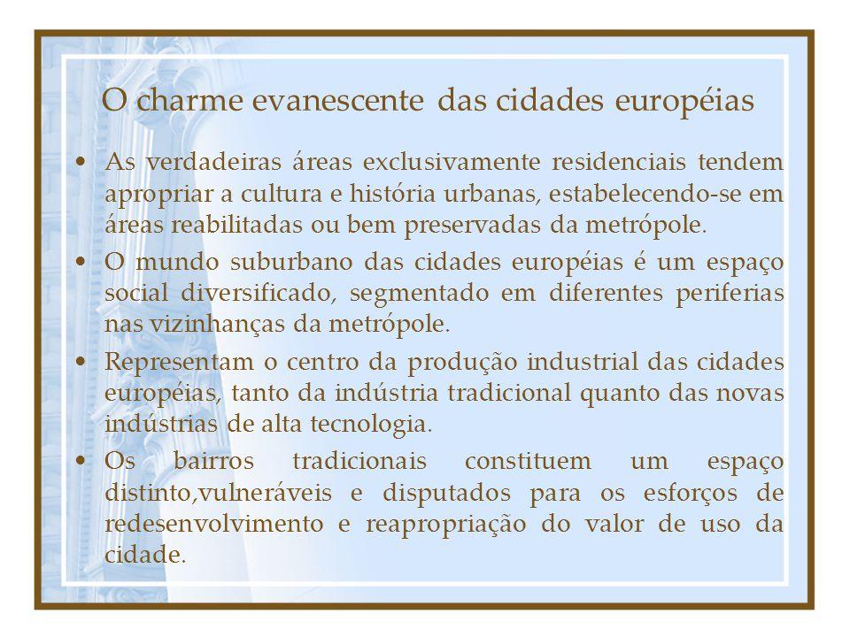 O charme evanescente das cidades européias