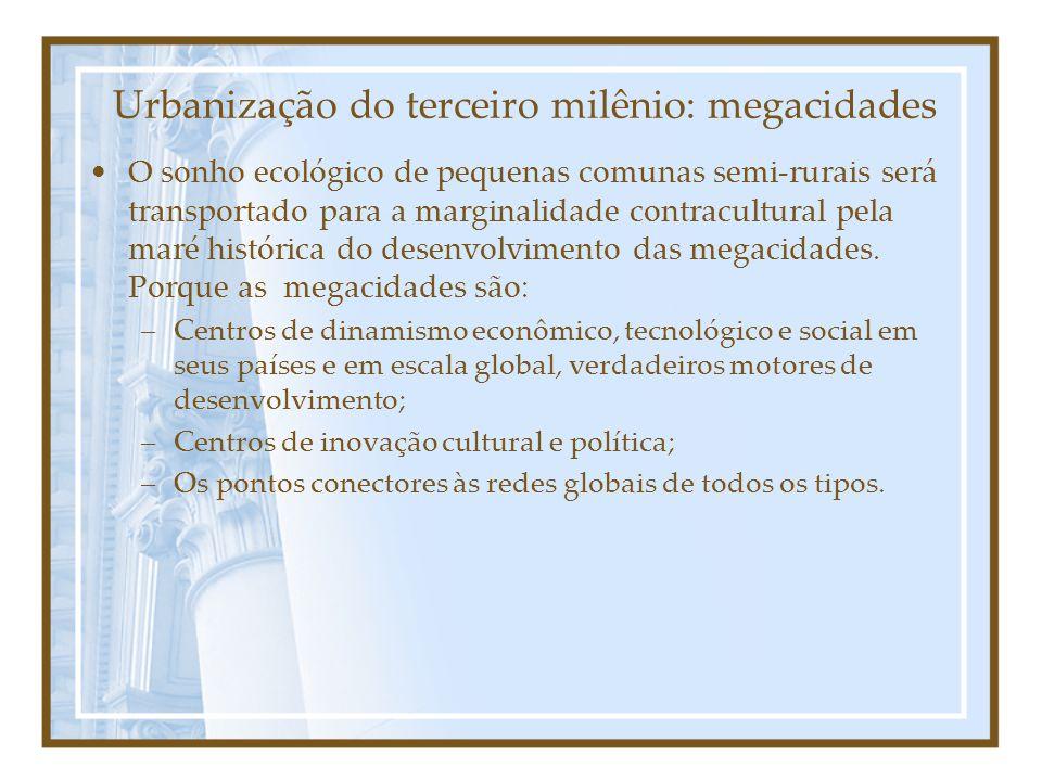 Urbanização do terceiro milênio: megacidades