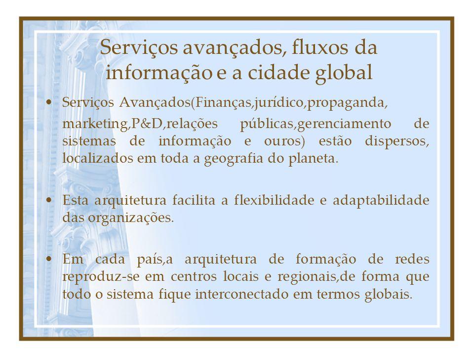 Serviços avançados, fluxos da informação e a cidade global