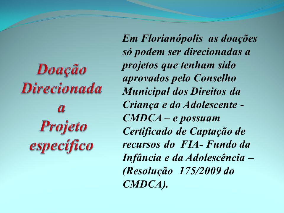 Doação Direcionada a Projeto específico
