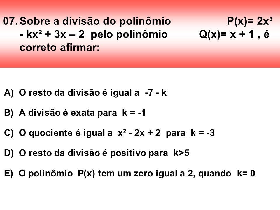 07. Sobre a divisão do polinômio