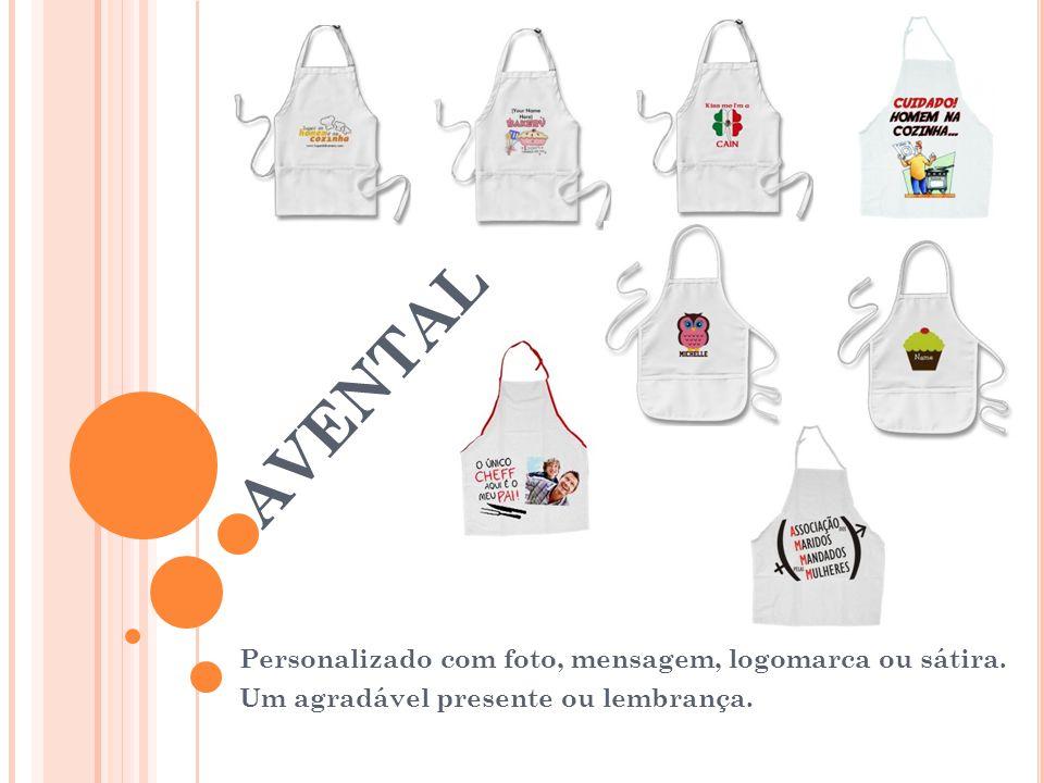 avental Personalizado com foto, mensagem, logomarca ou sátira.