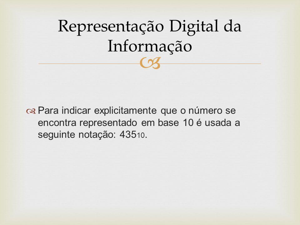 Representação Digital da Informação