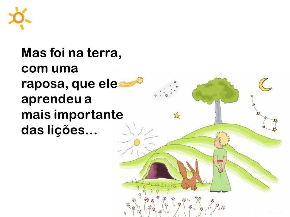 Mas foi na terra, com uma raposa, que ele aprendeu a mais importante das lições…