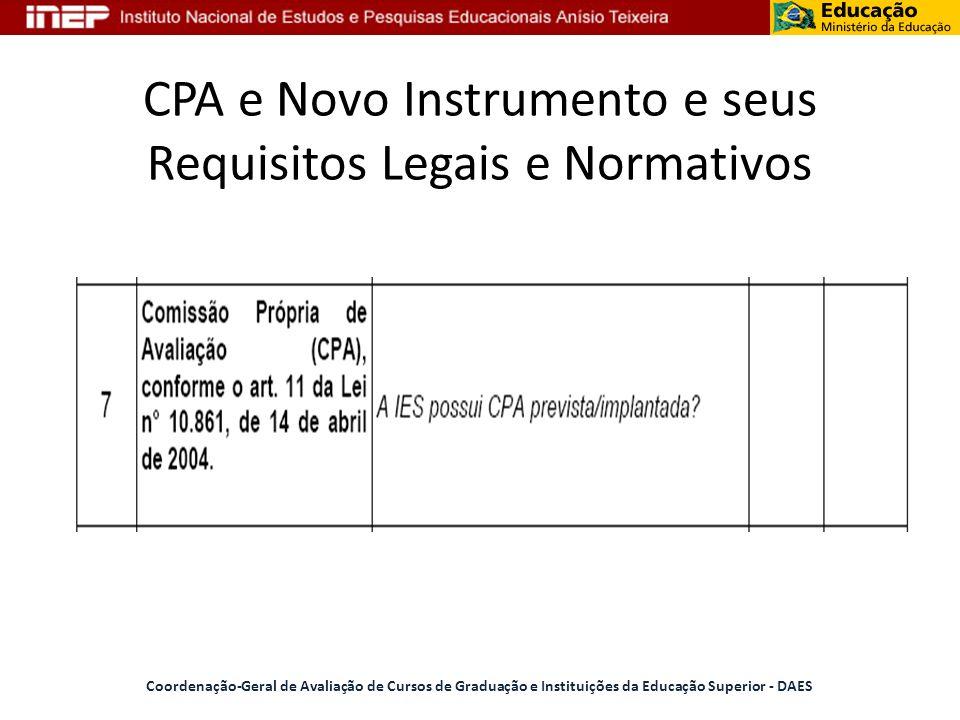 CPA e Novo Instrumento e seus Requisitos Legais e Normativos