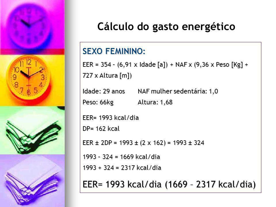 Cálculo do gasto energético